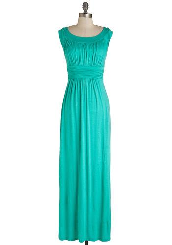 First Classic Dress in Jade