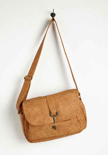 Keystone State Bag in Caramel - Tan, Solid, Casual, Buckles, Boho, Faux Leather, Fall, Best Seller, Work, Rustic, Top Rated