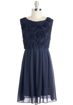Sitting Front Rosette Dress