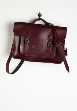 Cambridge Satchel Company Bag in Oxblood - 15 inch