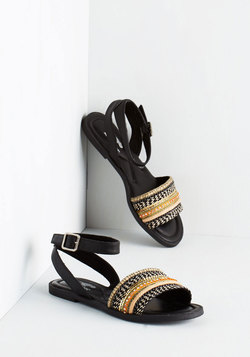 This Yay Up Sandal in Black