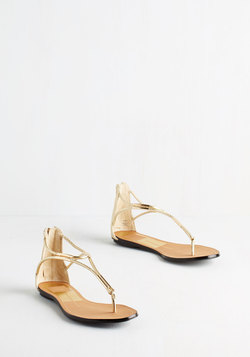 Luxe On the Bright Side Sandal in Gold