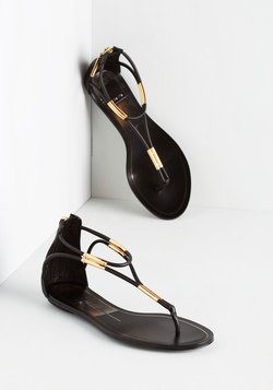 Luxe On the Bright Side Sandal in Noir