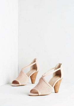 Gamble Heel in Blush