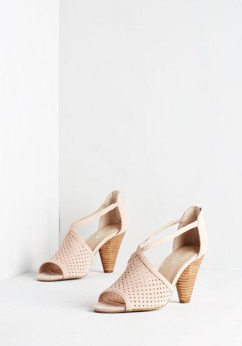 Gamble Heel in Blush