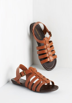 Just My Nature Sandal in Mahogany
