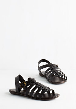 Just My Nature Sandal in Black