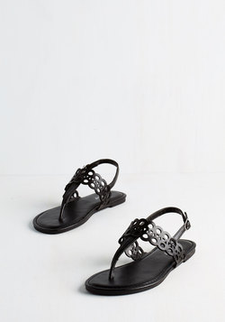 Chill By the Grill Sandal in Black