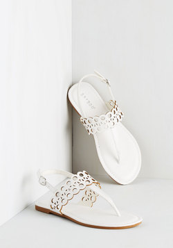 Chill By the Grill Sandal in White