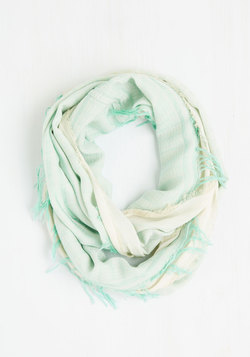 Calling for Charm Circle Scarf in Mint