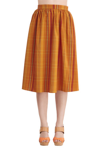 A Swish in Time Skirt in Amber
