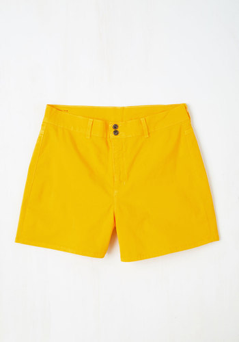 It's High Time Short in Yellow - Plus Size