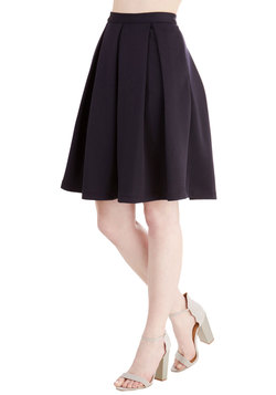 Adorably Yours Skirt in Navy