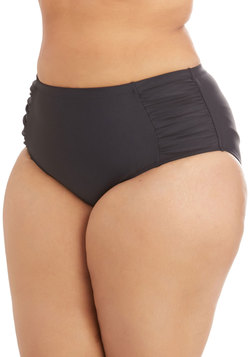 Edgy of the Sea Swimsuit Bottom in Black - Plus Size