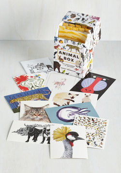 Colorful Correspondence Postcard Set in Animals