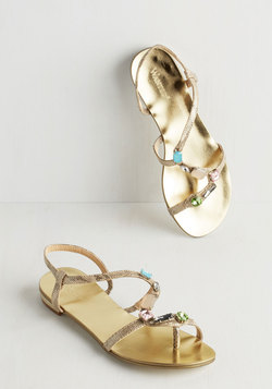 All the Glamour Reason Sandal in Gilded