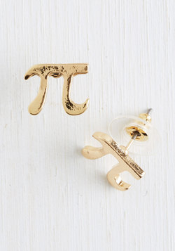 Cutie Pi Earrings in Gold