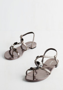 All the Glamour Reason Sandal in Pewter