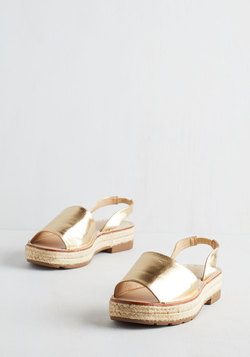 Daytime to Go Sandal in Gold