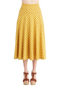 Next on Deck Skirt in Goldenrod