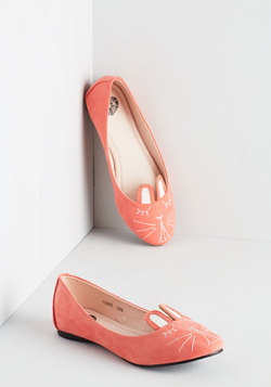 Furry Up, We're Dreaming Flat in Coral