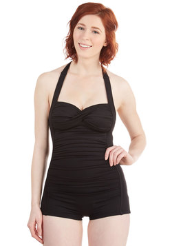 Be That as it Bouquet One-Piece Swimsuit in Black