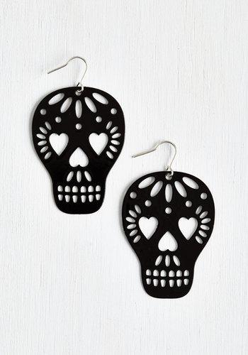 Too Close to Skull Earrings