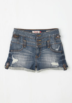 Borneo to be Wild Shorts in Medium Wash