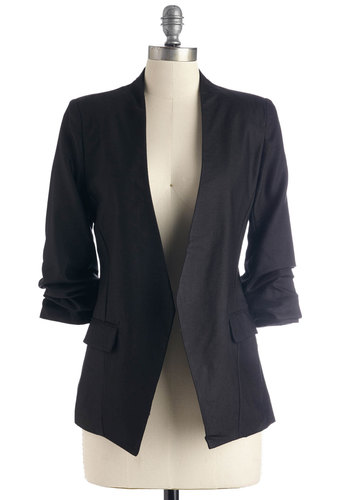 Speed Networking Blazer in Black