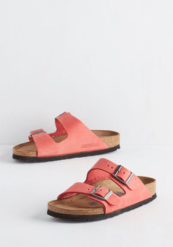 Strappy Camper Sandal in Rose Suede