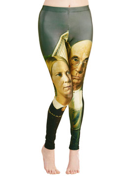 Imaginative Merriment Leggings in Gothic