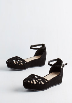 Flatform of Flattery Wedge in Black