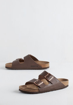 Strappy Camper Sandal in Brown