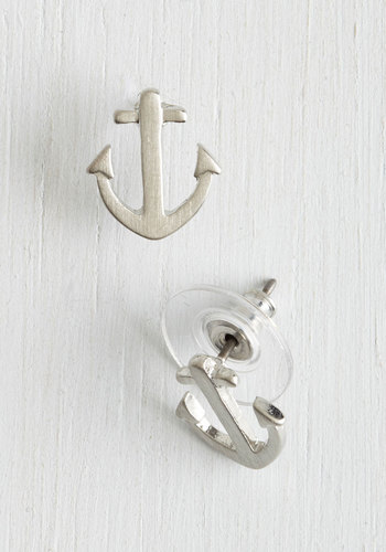 Just Drop By Earrings in Silver - Solid, Nautical, Silver, Good, Social Placements, Top Rated