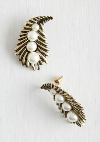 Delve into Dazzling Earrings - White, Solid, Pearls, Statement, Gold, Vintage Inspired, Social Placements, Halloween