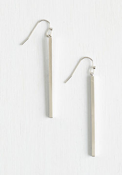 Key to Simplicity Earrings in Silver