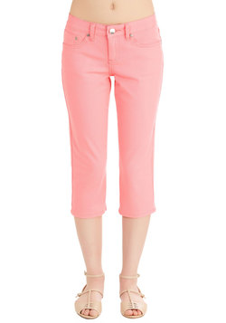 Crop to It! Jeans in Coral