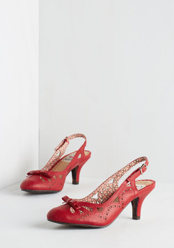 A Heel After Your Own Heart in Red