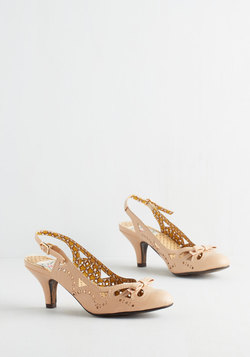 A Heel After Your Own Heart in Beige