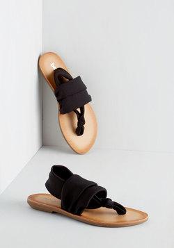 Stay in the Loop Sandal in Black