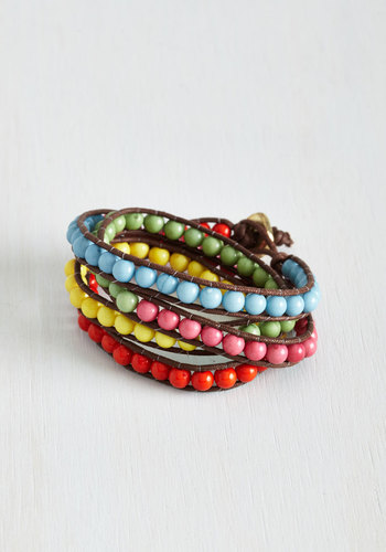 Colorful Personality Bracelet - Multi, Brown, Solid, Beads, Casual, Boho, Beach/Resort, Summer, Festival