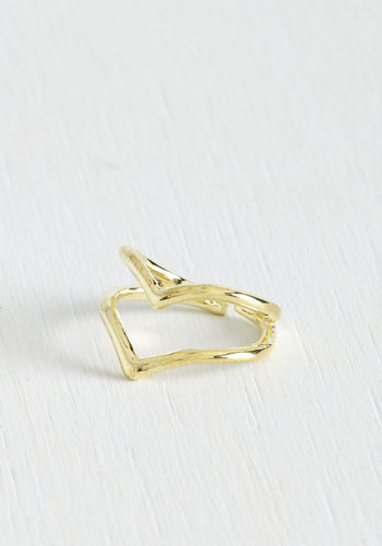 The V to Success Knuckle Ring - Gold, Solid, Cutout, Gold, Festival, Boho, Fall, Under $20, Girls Night Out