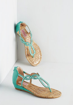 Sparkle of Genius Sandal in Aqua