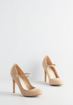 Shoe Had Me At Hello Heel in Beige