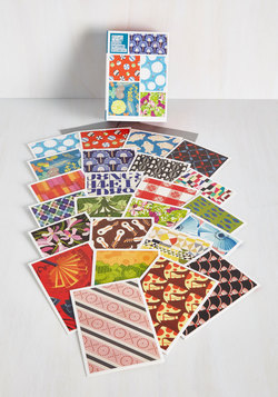 Give a Pattern on the Back Notecard Set
