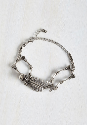 Carpal Diem Bracelet in Silver - Solid, Good, Variation, Silver, Halloween, Gifts Sale, Quirky, Skulls, As You Wish Sale, Top Rated