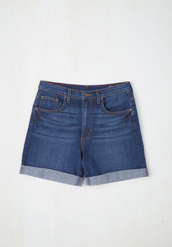 Premium Picnic Spot Shorts - Boyfriend, Better, Blue, Medium Wash, Denim, Short, Cotton, Denim, Woven, Blue, Solid, Pockets, Casual, Festival, Summer, Beach/Resort, 90s, High Waist, Spring, High Rise, Good, Boho