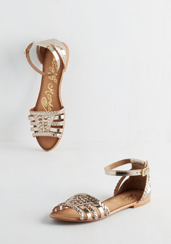 Cape May I Join You? Sandal in Gold