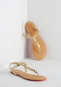 Posy on Over Sandal in Gold
