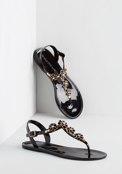 Gild Me Up Buttercup Sandal in Black